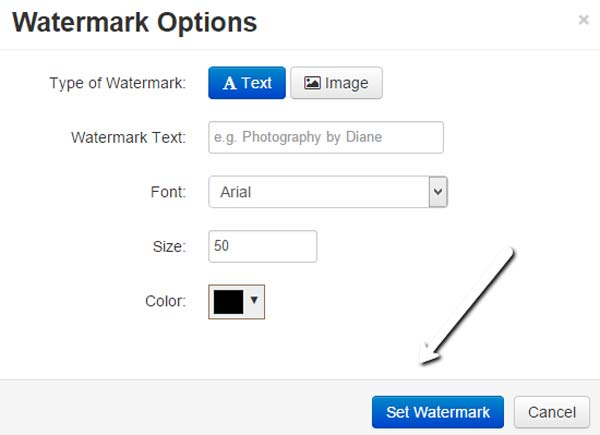 Set Watermark