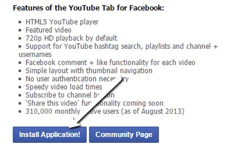 Youtube-tab-Install