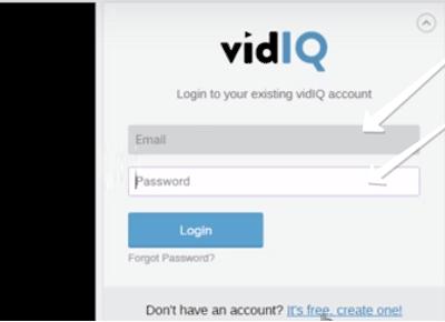 VidIQ повторное подтверждение данных